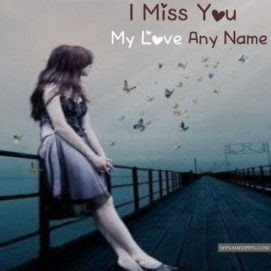 Write Name On Cute Girl Miss You Picture Love Name Generator