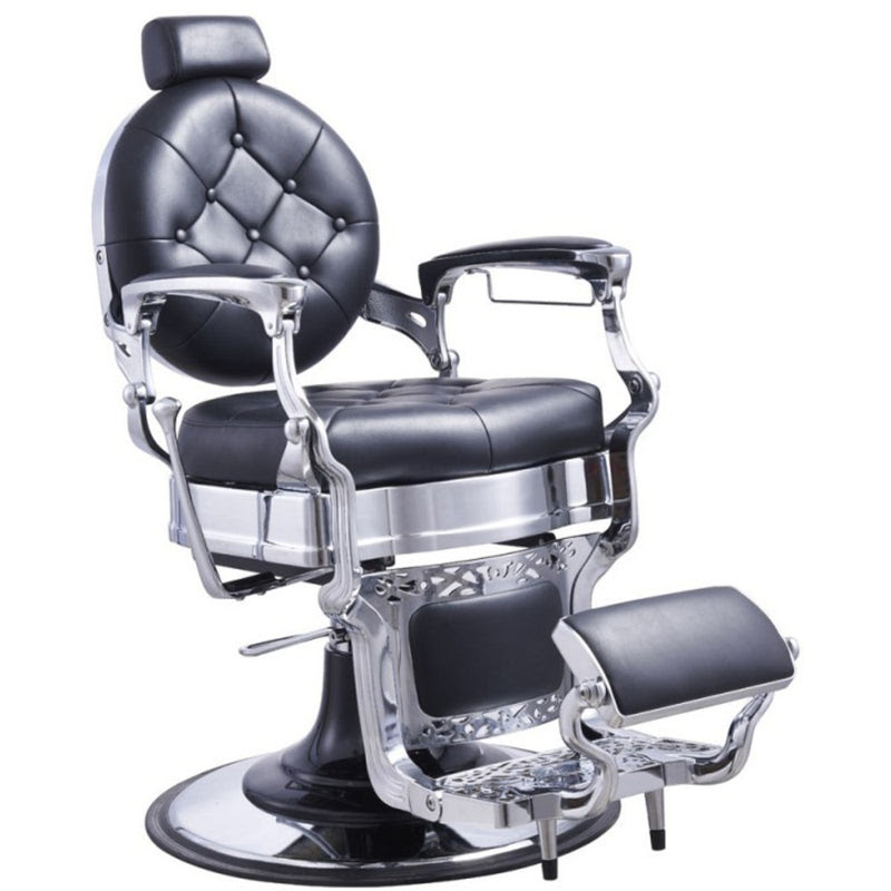 Duke Barber chair in Black - Zurich Beauty