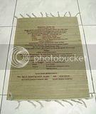 Undangan Placemat Mendong Batik
