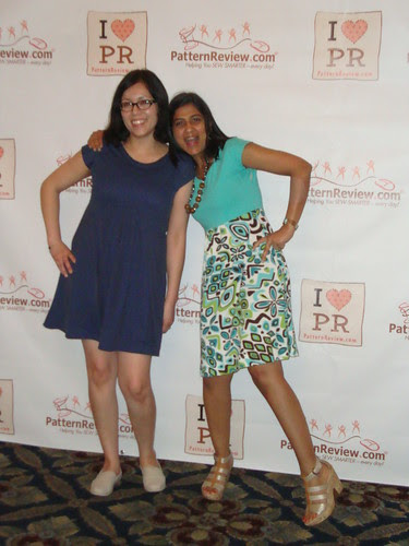 Jacqui and Deepika in the new PR downloadable pattern, Summer Street Dress