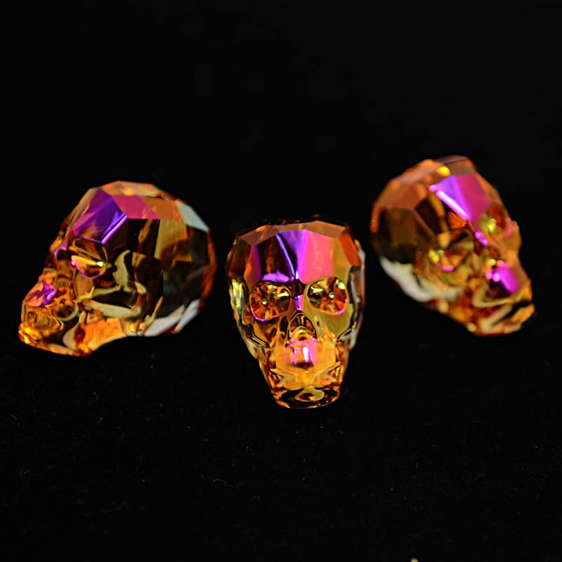 2775750s39225 Swarovski Bead - 19 mm Faceted Skull (5750) - Crystal Astral Pink (1)