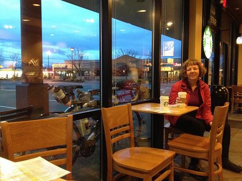Maria. Starbucks at dawn. 3 miles