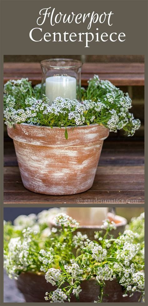 Flower Pot Centerpiece   Easy and Affordable to Create