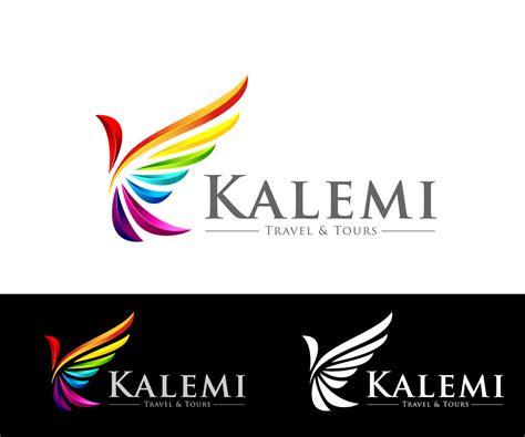 modern colorful logo design  kalemi travel tours