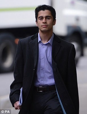 Mustafa Al-Bassam, arriving at Southwark Crown Court aged 18 accused of hacking websites for major organisations, including the CIA