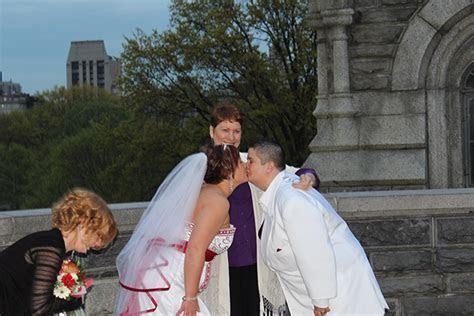 Central Park Gay Marriage Ceremonies   Reverend