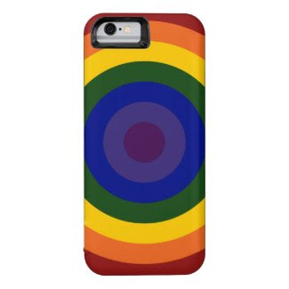 Rainbow Bullseye Pattern iPhone 6 Case