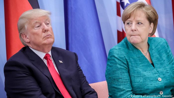 G20 Gipfel in Hamburg | Trump & Merkel (picture-alliance/dpa/M. Kappeler)