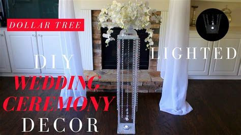 DIY Wedding Ceremony Decorations   Dollar Tree Wedding