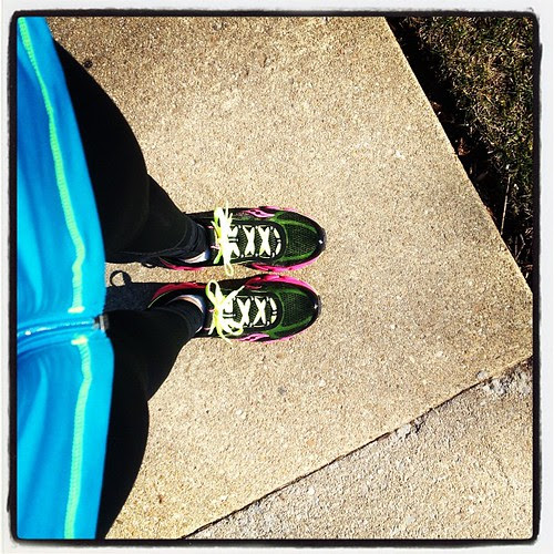 Took my new Saucony #virrata shoes out on their first run today. Love them! #findyourstrong