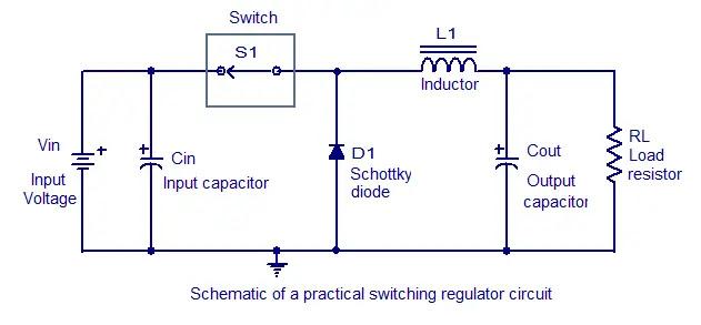 schematic of a working regulator circuit