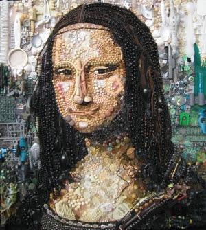 διάσημα-πορτρέτα-mona-lisa-ανακυκλωμένα-υλικά
