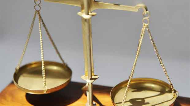 photograph of scales, symbolising justice
