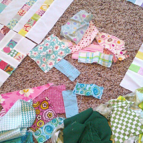 Searching my scraps to finish up my candy land quilt. I'm so so late on this... 4 more blocks. 4 more blocks.