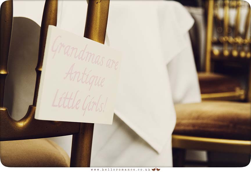 Wedding Sign Grandmas are antique little girls - Hello Romance Wedding Photography Suffolk