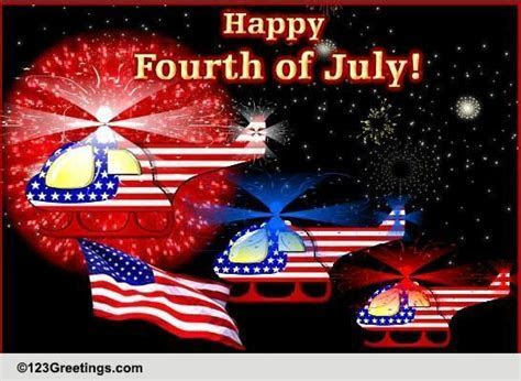 4th July Helicopter Fireworks Show! Free Fireworks eCards