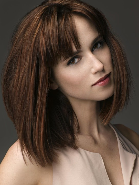 Medium Hairstyles With Bangs Straight Bob Haircut 2014 Popular