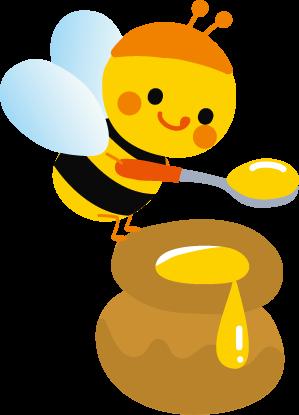 かわいいミツバチのイラスト 無料イラストフリー素材