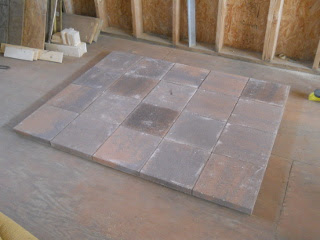 Stove Step Stones in Place