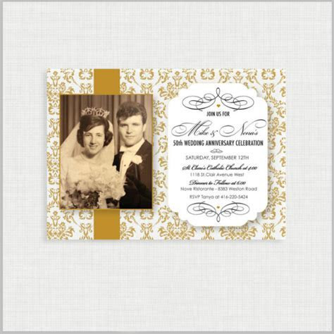 32  50th Wedding Anniversary Invitation Designs