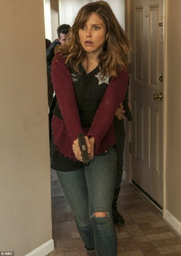 Experienced with handcuffs: Sophia plays Detective Erin Lindsay in NBC drama series Chicago PD