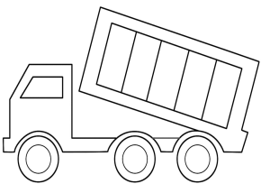 trucks  dump truck coloring page printable fire truck