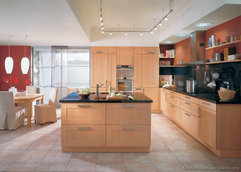 Modern Light Wood Kitchen Cabinets - Pictures & Design Ideas