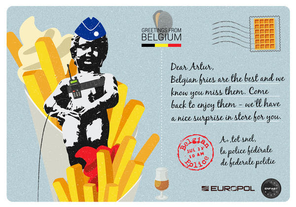We Miss You Europol Writes Postcards To Its Most Wanted Fugitives