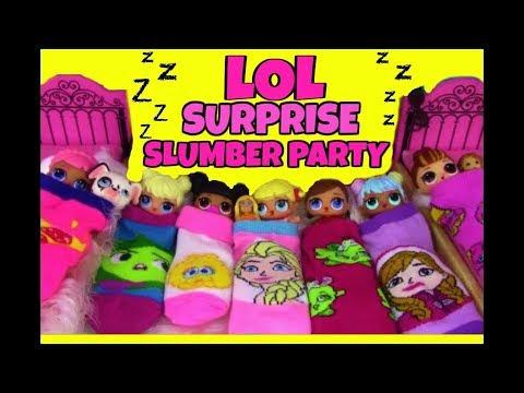 Lol Surprise Dolls Slumber Party Disney Princess Theme Blind Bags