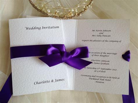 Purple Wedding Invitations   Purple Wedding Colours