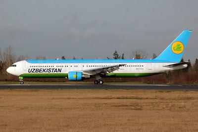 Uzbekistan Airways Boeing 767-33P ER UK67005 (msn 40533) PAE (Nick Dean). Image: 911638.
