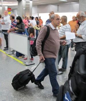 wallim vasconcellos flamengo desembarque (Foto: Richard Souza)