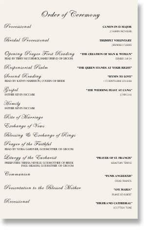 wedding programs sample one page   mkdphoto.com   Wedding