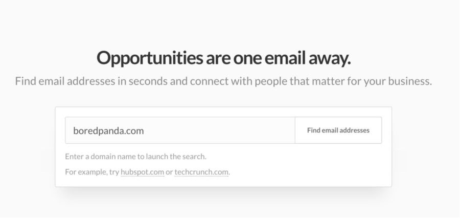Hunter.io – Find Email Addresses
