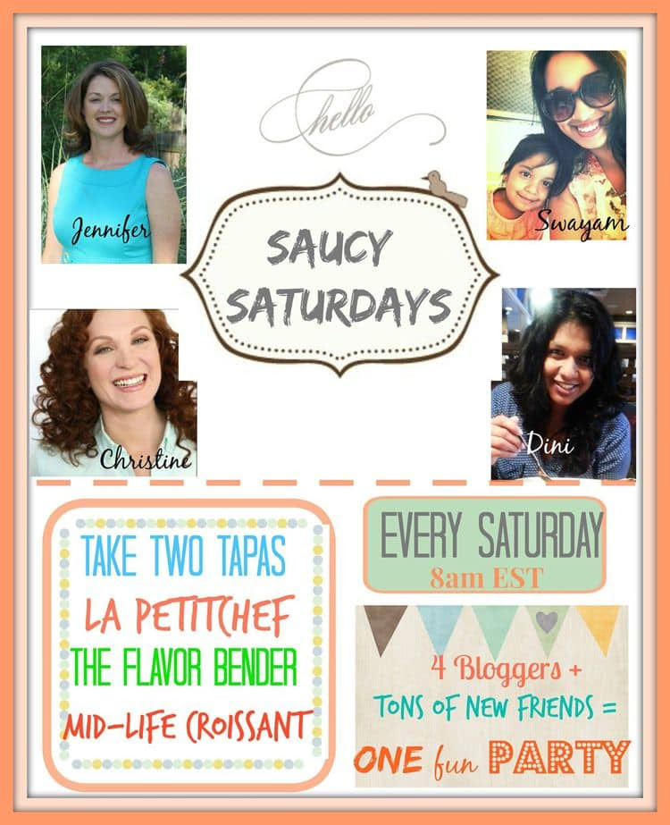 saucy saturdays link up party hosts