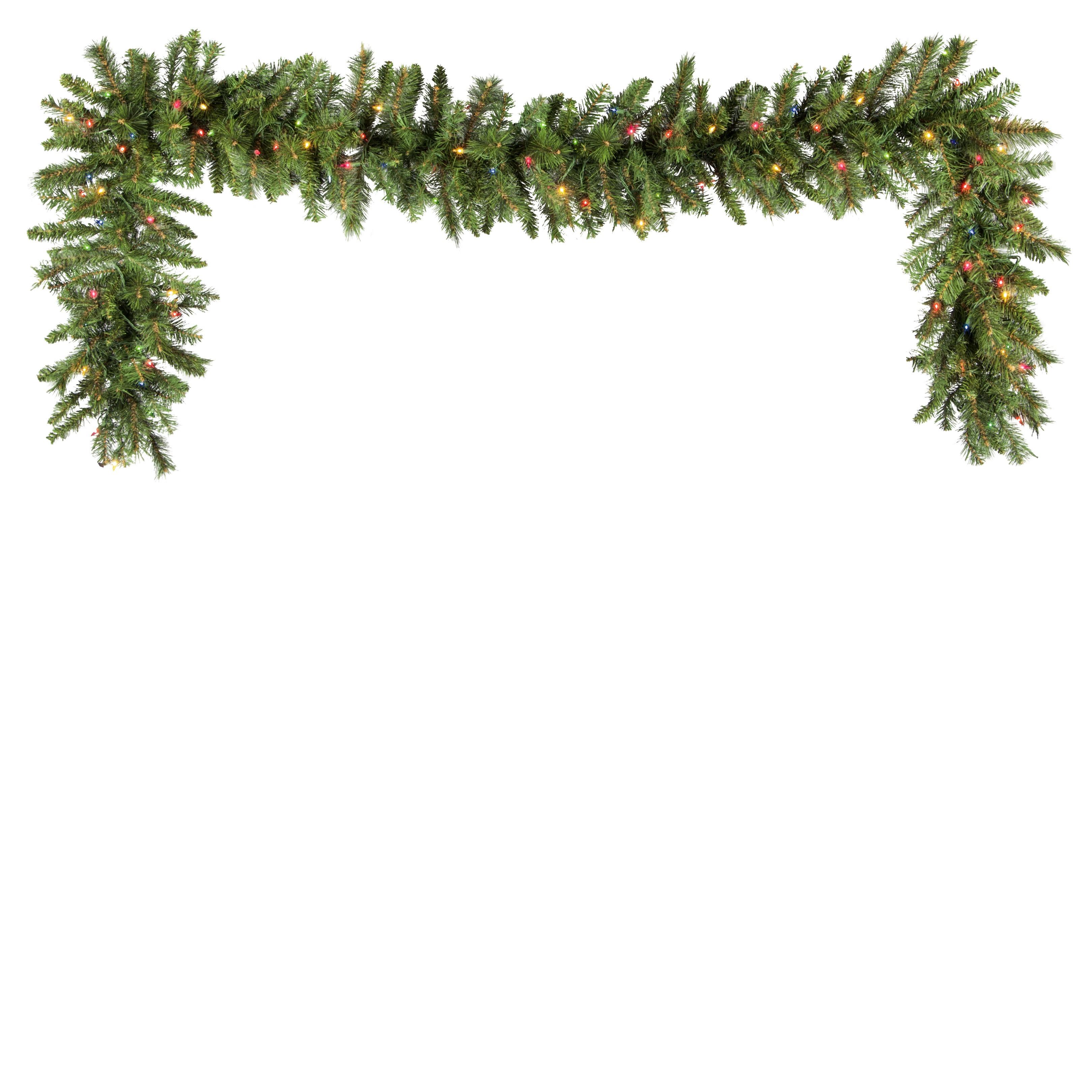 lighted christmas garland brighton fir prelit christmas garland