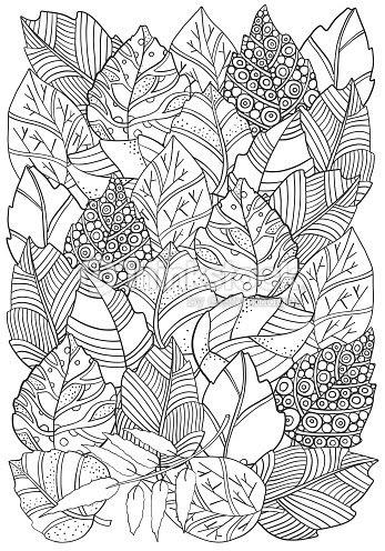 花の落書き紅葉とベクトルの背景パターンアジアエスニックトライバル