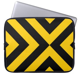 Yellow and Black Chevrons electronicsbag