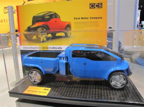 ccs students envision  ford pickup  detroit auto