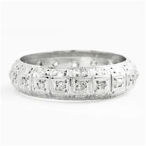 Andover Art Deco 1920s Domed Diamond Wedding Band in