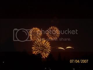 Hidden Mickey in the Fireworks