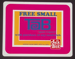 Free TAB Soda sign