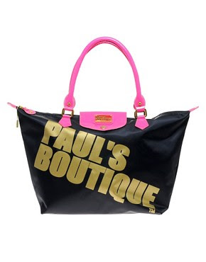 Image 1 of Paul's Boutique Betty Navy Zip Top Shopper
