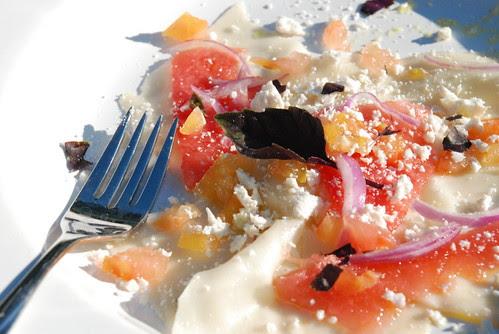 watermelon raviolo