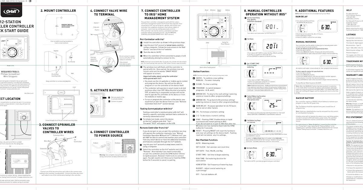 31 Orbit Pump Start Relay Wiring Diagram