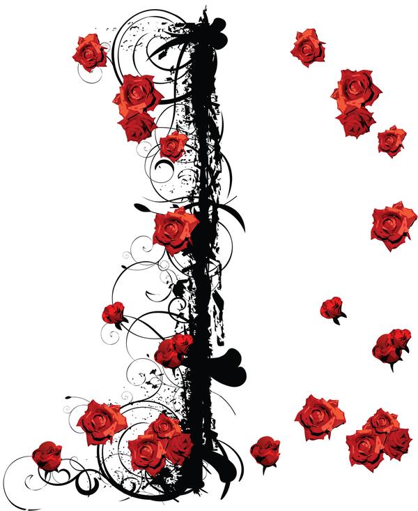 roses rouges - fond pour créas - déco pour créas