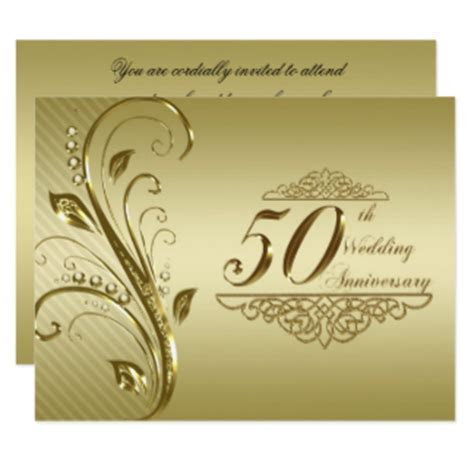 50th Wedding Anniversary Invitations & Announcements