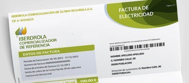 nueva factura de electricidad