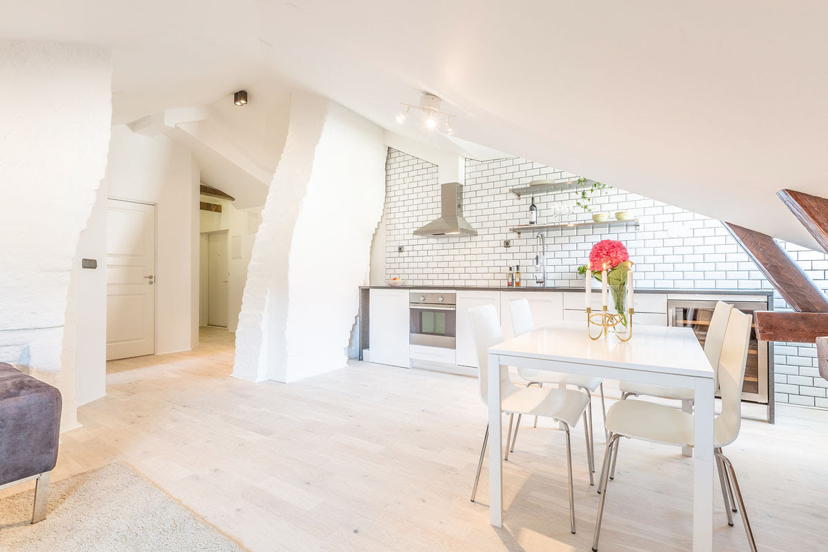 Dream Attic Apartment In Stockholm With Preserved Wood Beams   iDesignArch   Interior Design ...