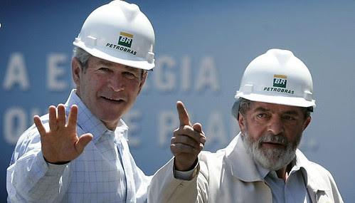 Foto de Bush e Lula